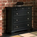Home Styles Bedford 4 Drawer Chest; Ebony