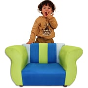 Fantasy Furniture Kid's Fancy Microsuede Chair; Blue / Green