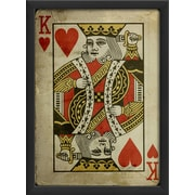 The Artwork Factory King of Hearts Framed Graphic Art