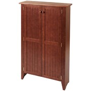 Manchester Wood Tall Double Jelly Cabinet; Chestnut