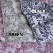Ellis Curtain Victoria Park Toile Cushioned Chair Pad; Black