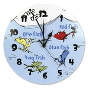 Trend Lab Dr. Seuss One Fish Two Fish 11'' Wall Clock