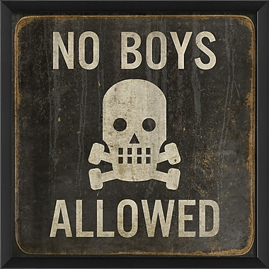 Blueprint Artwork No Boys Allowed Framed Art
