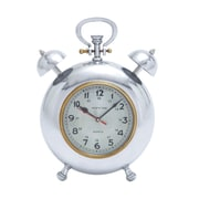 Woodland Imports Beautiful Metal Clock w/ Display Numbers and Snooze Buttons