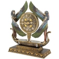 Design Toscano Wings of Isis Egyptian Revival Sculptural Clock