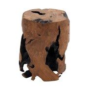 Woodland Imports Crafty and Round Solid Stool