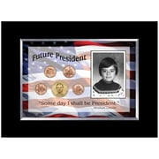 American Coin Treasure Future President 5 Coin Desk Framed Memorabilia