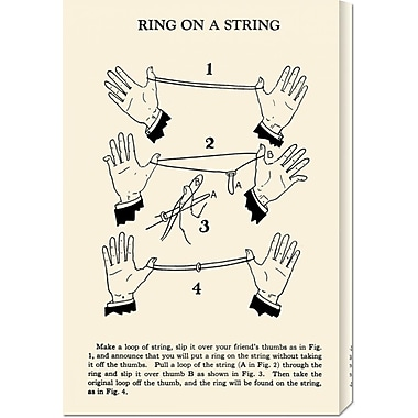 Global Gallery 'Ring on a String' by Retromagic Vintage Advertisement on Wrapped Canvas