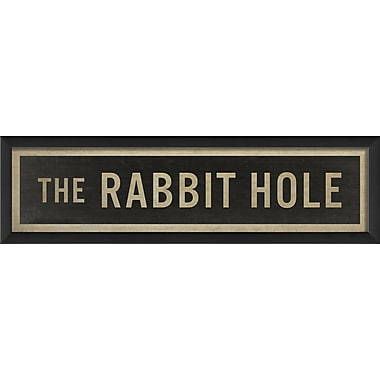 The Artwork Factory The Rabbit Hole Framed Textual Art