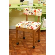 Arrow Sewing Cabinets Sewing Side Chair; Oak