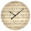 Ashton Sutton 16'' Music Note Wall Clock