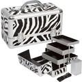 Seya Professional 3-Tier Makeup Case; Zebra