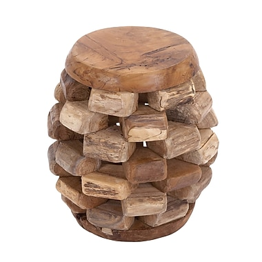 Woodland Imports Solid Wooden Teak Material Stool