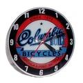 American Retro Double Bubble 14.5'' Columbia Bicycle Wall Clock