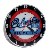 American Retro Double Bubble 14.5'' Columbia Bicycle Wall Clock