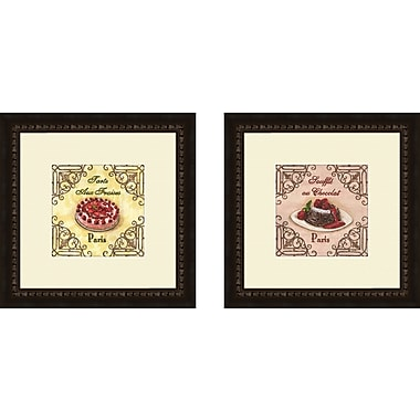 PTM Images Kitchen French Pastry 2 Piece Framed Vintage Advertisement Set