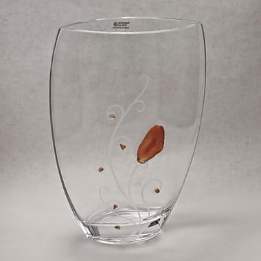 Womar Glass Precious Stone Agate and Carnelian Series Vase