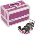 Just Case Cosmetic Makeup Train Case; Purple