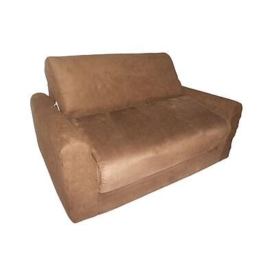 Fun Furnishings Micro Suede Kid's Sofa Sleeper; Brown