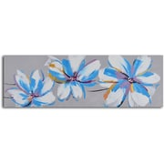 My Art Outlet 'Floral Butterfly Fancy' Original Painting on Wrapped Canvas