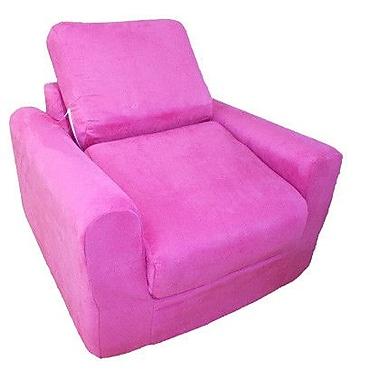 Fun Furnishings Micro Suede Kid's Chair Sleeper; Fuchsia