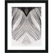 Studio Works Modern ''White Feather'' by Zhee Singer Framed Graphic Art; Black