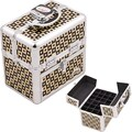 Sunrise Cases Aluminum Cosmetic Makeup Nail Case; Black/Gold