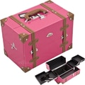Sunrise Cases Professional Cosmetic Makeup Case; Hot Pink