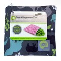 Itzy Ritzy Snack Happened Reusable Snack Bag in Urban Jungle Blue