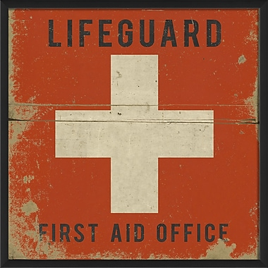 The Artwork Factory Lifeguard First Aid Office Black Text Framed Graphic Art