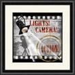 PTM Images Lights Camera Action A Framed Vintage Advertisement