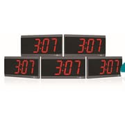 Pyramid Power Over Ethernet Digital Wall Clock (Set of 5)