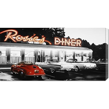 Global Gallery 'Rosie's Diner #5' by Robert Gniewek Photographic Print on Wrapped Canvas