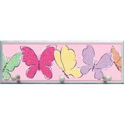 Illumalite Designs Butterflies Graphic Art on Plaque w/ Wooden Pegs