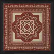 The Artwork Factory Tile 6 Framed Graphic Art; Red