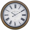 Cooper Classics Oversized 24.5'' Henley Wall Clock