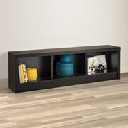 Prepac Series 9 Designer Laminate Storage Bench; Black