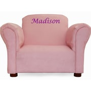 Fantasy Furniture Little-Furniture Personalized Kid's Microsuede Mini Chair; Pink
