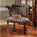 Design Toscano Kingsman Manor Dragon Fabric Arm Chair