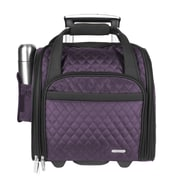 Travelon 14'' Rolling Underseat Quilted Microfiber Carry On; Eggplant