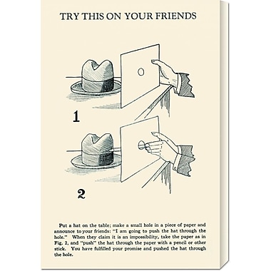 Global Gallery 'Try This on Your Friends' by Retromagic Vintage Advertisement on Wrapped Canvas
