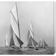 'Sailboats Sailing Downwind, 1920' by Edwin Levick Photographic Print on Wrapped Canvas