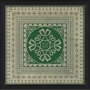 The Artwork Factory Tile 7 Framed Graphic Art; Green