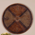 Uttermost Wovern Rattan Oversized 32'' Jilin Wall Clock