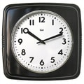 Bai Design Cubist Retro Modern Wall Clock; Black