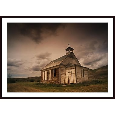 Printfinders 'A Simple Wooden Church' by Kelly Redinger Framed Photographic Print