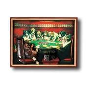 RAM Game Room Game Room Poker Dogs Under the Table Framed Vintage Advertisement