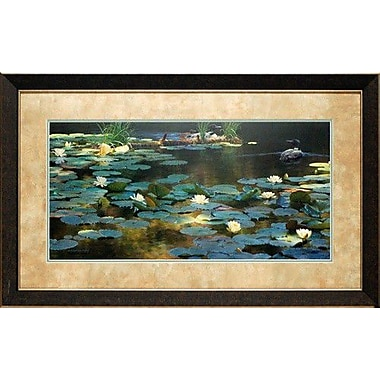 North American Art 'Leaving the Lilies' by Sandra Weiler Wiesman Framed Painting Print