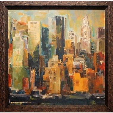 North American Art 'New York New York' by Marilyn Hageman Framed Painting Print
