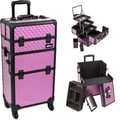 Just Case Trolley Makeup Case; Purple